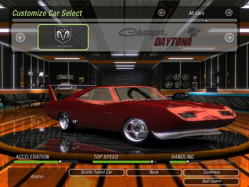 Dodge Charger Daytona FnF6 для NFS Underground 2