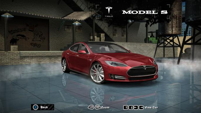 2014 Tesla Model S P90D для NFS Most Wanted 2005