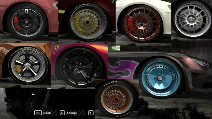 Rims Pack: замена дисков для NFS Most Wanted